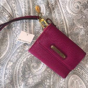 NWT LIZ CLAIBORNE fuschia pink wallet